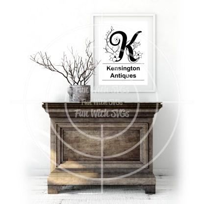 Letter k Monogram Mockup Image