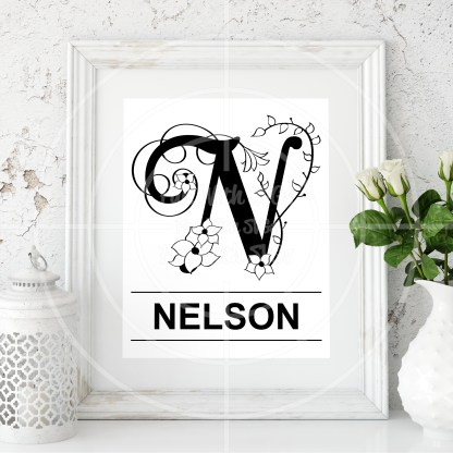 Letter N SVG Mock Up Image