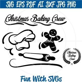 Christmas Baking Crew SVG Image