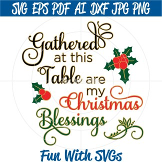 Christmas Blessing SVG File Image