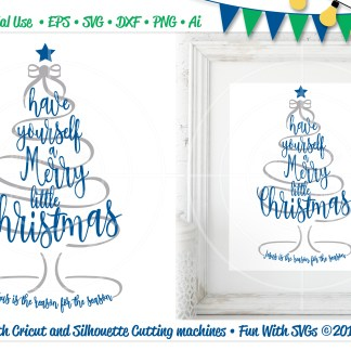 Merry Little Christmas SVG Imag