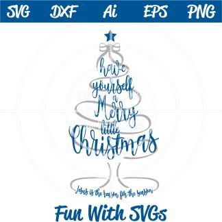 Merry Little Christmas SVG Image