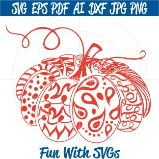 Zentangle Pumpkin SVG Image