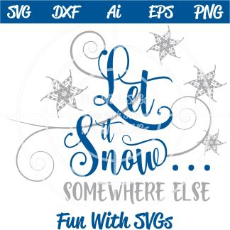 Let It Snow SVG Image