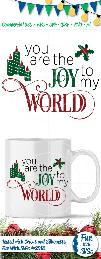 Joy to the world SVG Image