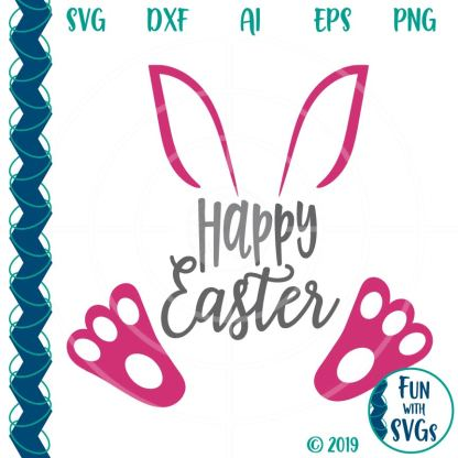 Happy Easter Bunny SVG Cutting File Image