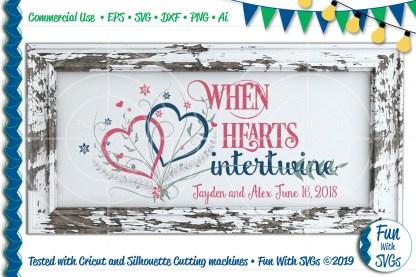 When Hearts Intertwine Wedding SVG