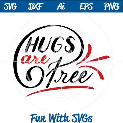 Hugs are free svg image