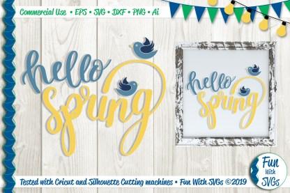 Hello Spring Svg Image
