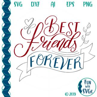 Best Friends Forever SVG Image