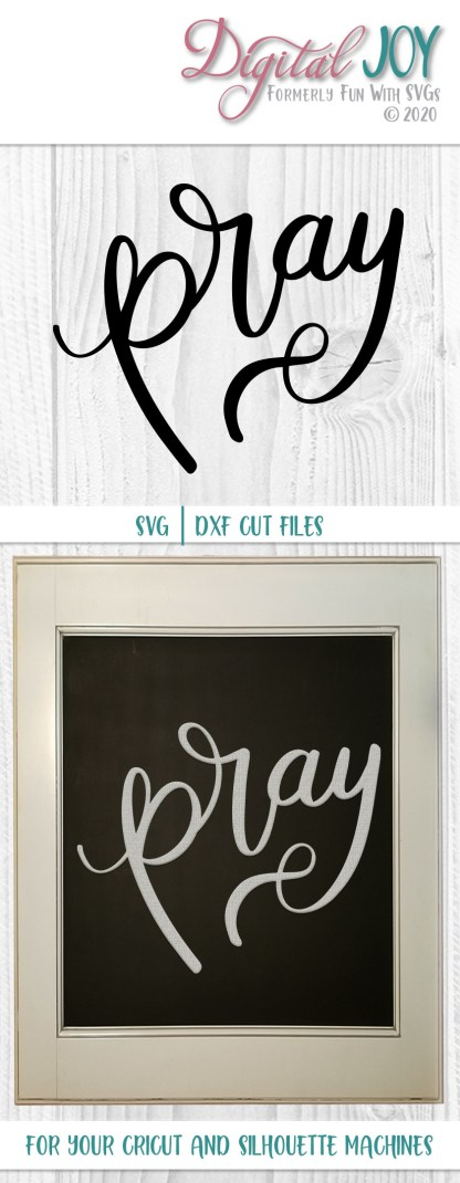 Pray SVG Cut File Project Idea Image Luke 22:46, 2nd Chronicles 7:14