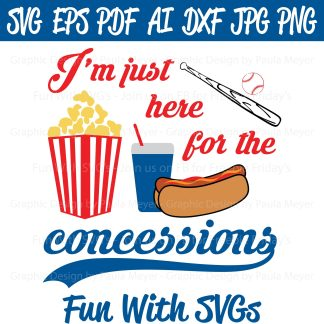 Baseball Concessions SVG Image