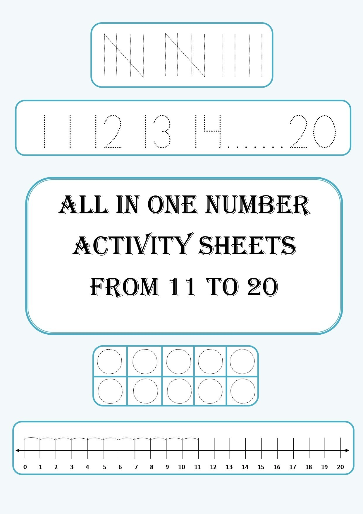 All In One Number Learning Worksheets 11 20