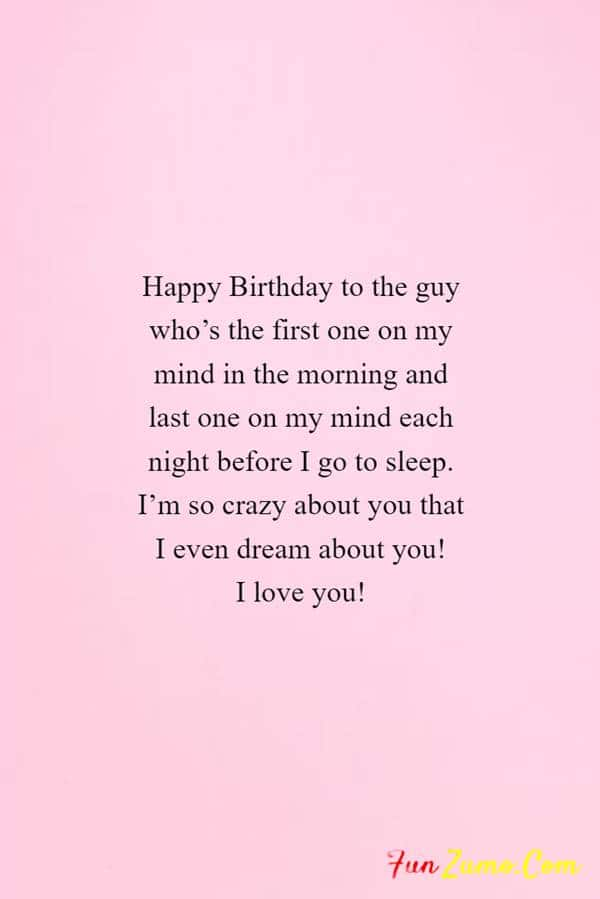 100 Birthday Wishes For Boyfriend Birthday Quotes And Messages Funzumo