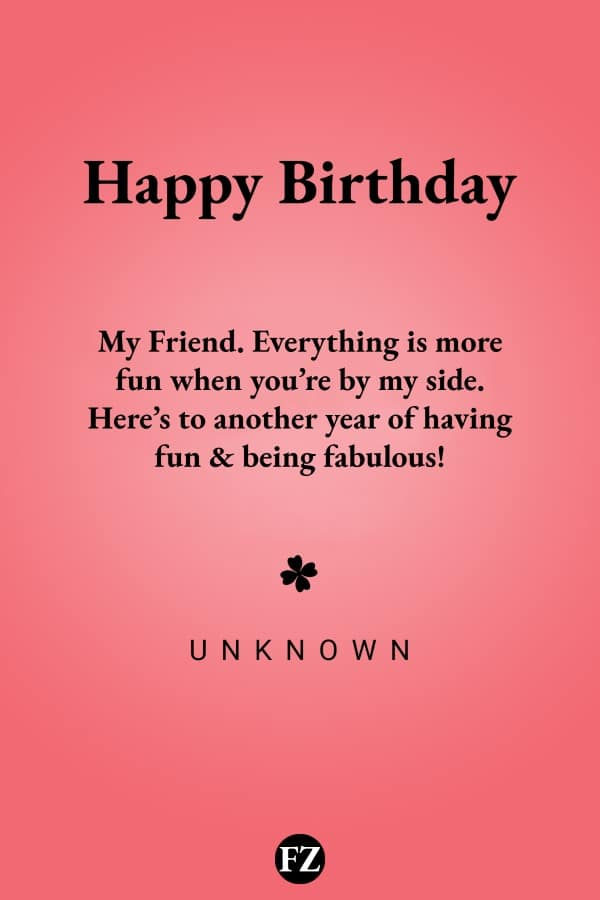 110 Happy Birthday Wishes For Friends Quotes And Messages Funzumo
