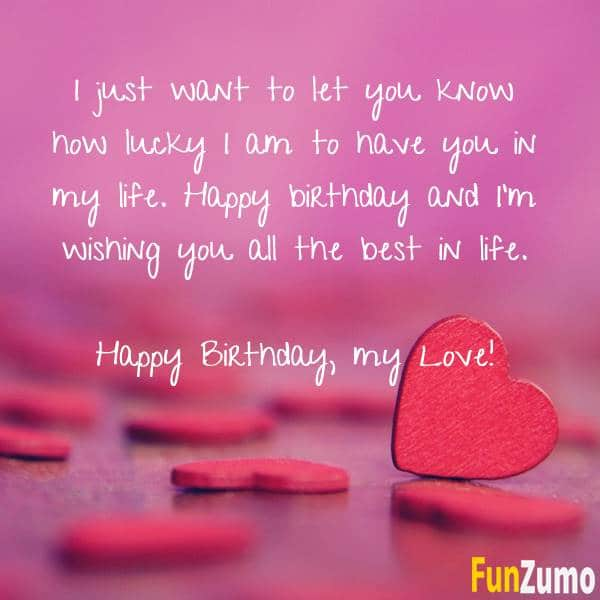 110 Romantic Birthday Wishes Birthday Quotes Birthday Messages Funzumo