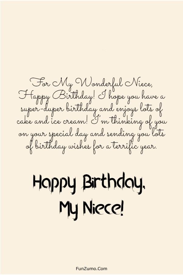 245 Happy Birthday Niece Wishes Quotes Messages Funzumo