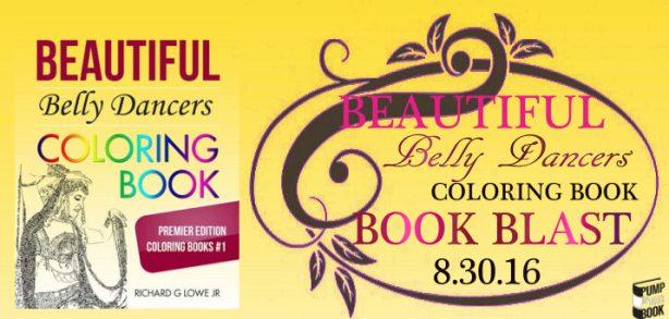 Beautiful Belly Dancers Coloring Book banner