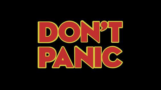 scritta don't panic for GDPR