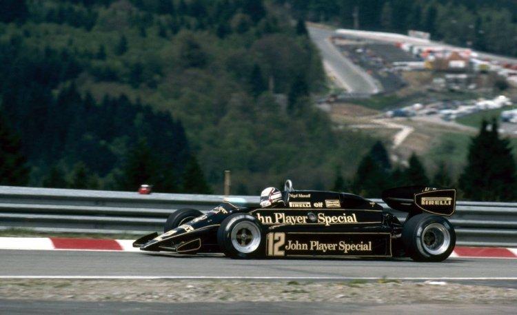 Mansell in Lotus