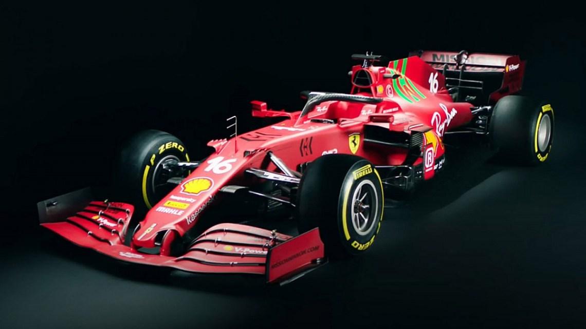 La Ferrari svela la SF21: spicca il logo verde di Mission Winnow.