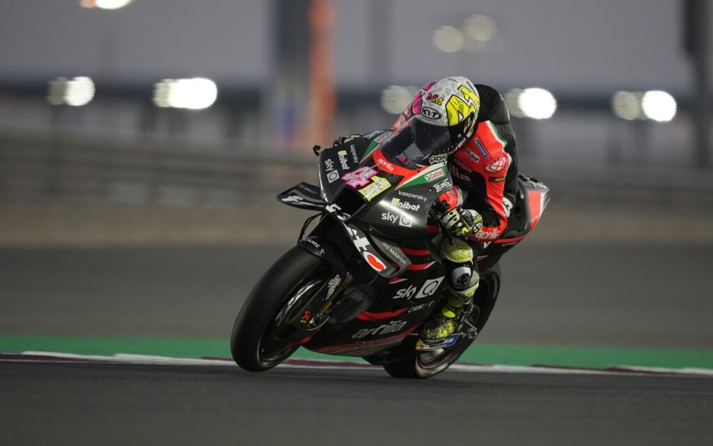 Test 2021 MotoGP Day 1: Aprilia al comando, 14° Rossi.