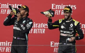 Daniel Ricciardo Lewis Hamilton Mercedes
