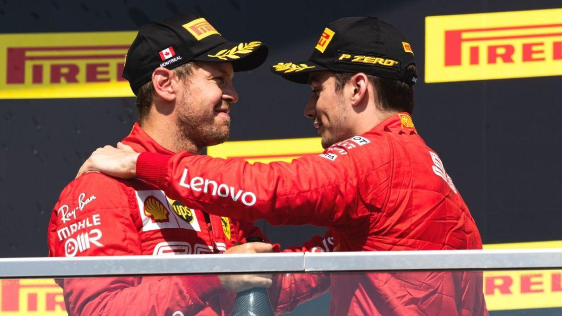 Leclerc a lezione da… Sebastian Vettel