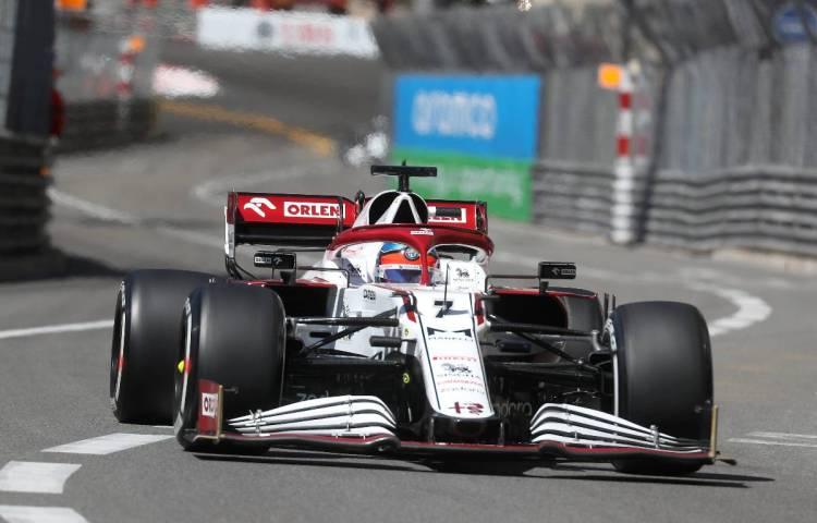 Kimi Raikkonen (Alfa Romeo) durante il GP di Monaco