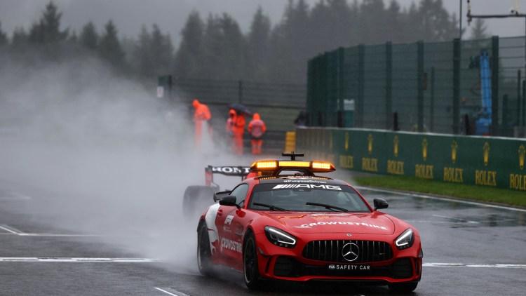 Safety Car durante il GP del Belgio