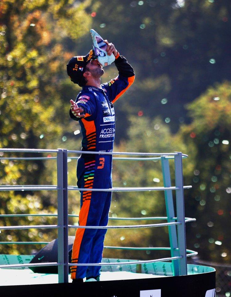 Ricciardo vincitore del GP d'Italia