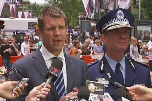 Image: Baird and Scipione talk about the Lindt Café siege in Martin Place. Source: ABC