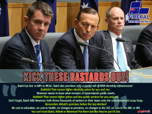 Image: Boot Baird - birds of a feather, flock together. Kick these bastards out!