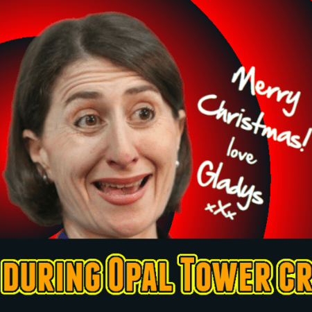 Image: Merry Christmas Opal Tower love Gladys Berejiklian - MIA