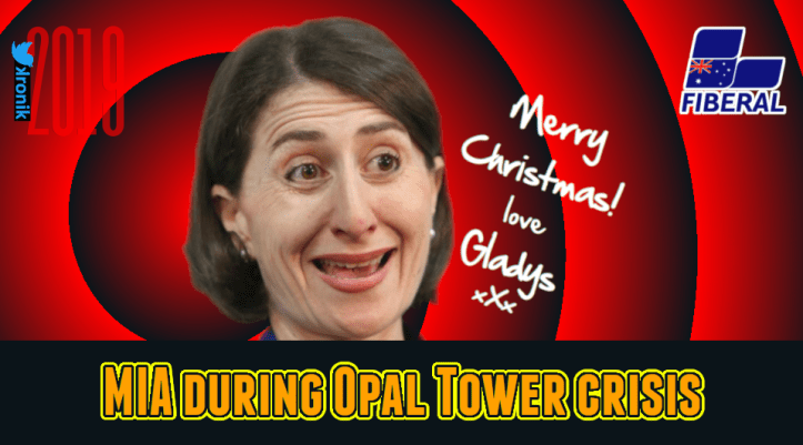 Image: Merry Christmas Opal Tower love Gladys Berejiklian - MIA