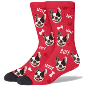 FurbabySocks Custom Red Dog Socks