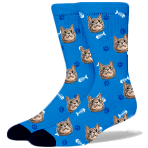 men women lover custom funny adult socks Cat lady Kitten Socks with pictures photos dad Personalized Cat Socks with Faces Pet Gift mom