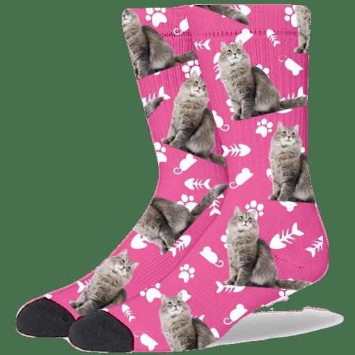 FurbabySocks Custom Pink Cat Socks