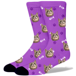FurbabySocks-Custom-Purple-Cat-Socks