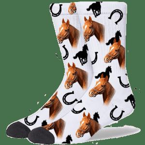 FurbabySocks Custom White Horse Socks