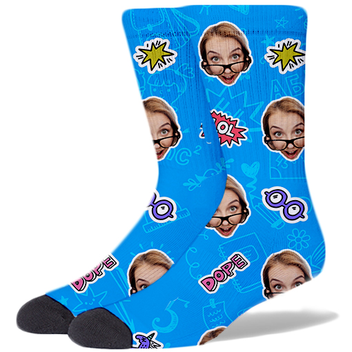 Back To School Product Socks CERULEAN BLUE
