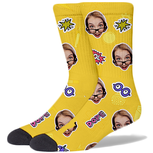 Back To School Product Socks PINEAPPLE YELLOW