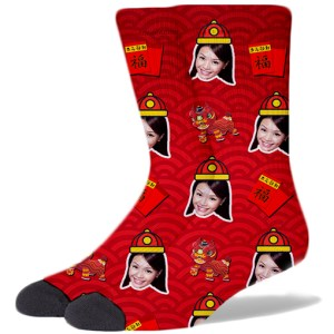 Chinese New Year Socks RED