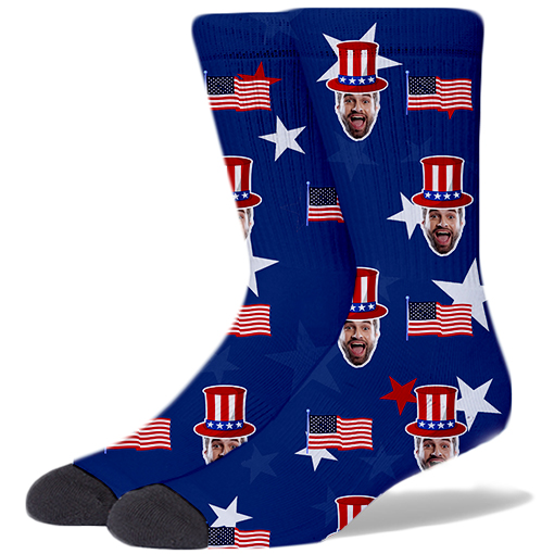 Custom America Product Socks NAVY BLUE