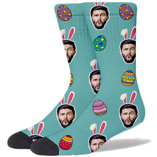 Easter Large TEAL Socks
