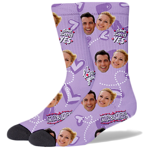 Wedding Product Socks LILAC