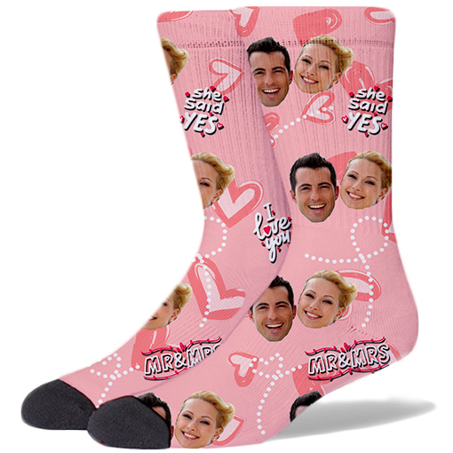 Wedding Product Socks PEACH