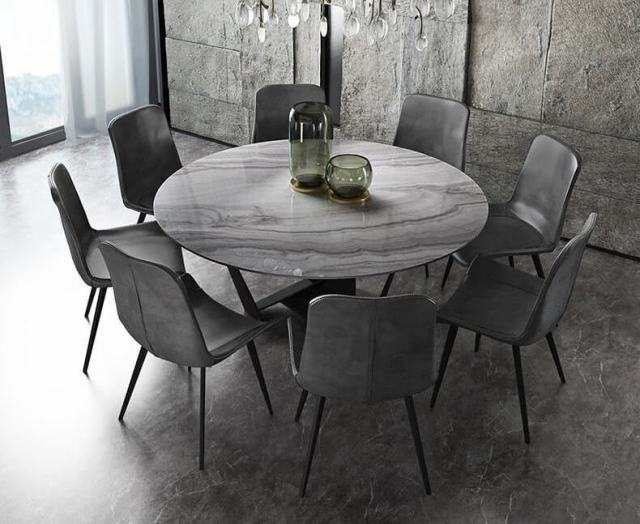 703-high quality modern light luxury metal dining table made by china luxury and modern furniture factory and company-furbyme