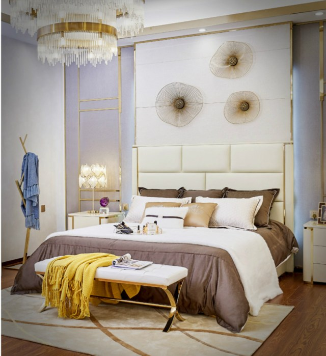A530-high quality upholstered leather king bed made by china luxury and modern furniture factory and company-furbyme