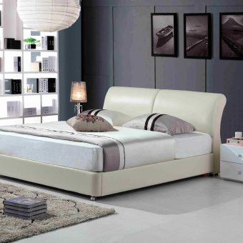 A8835-high quality upholstered leather king bed made by china luxury and modern furniture factory and company-furbyme